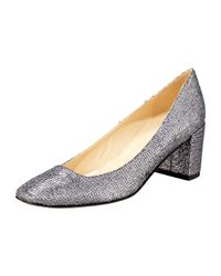 kate spade new york | Gray Desiree Starlight Low-heel Pump | Lyst