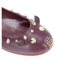 Marc By Marc Jacobs Red Stud Mouse Flat