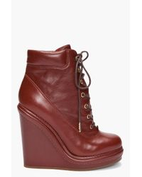 Marc By Marc Jacobs | Red Mocasso Wedge Boots | Lyst