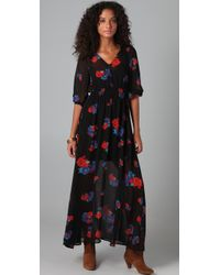 MINKPINK Multicolor The Carnaby Sheer Maxi Dress