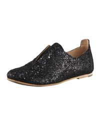 Pedro Garcia | Black Glitter Slip-on Oxford | Lyst
