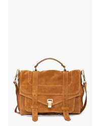 Proenza Schouler | Brown Ps1 Large Suede | Lyst