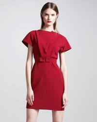 Roland Mouret | Red Nora Tunic-top-dress | Lyst