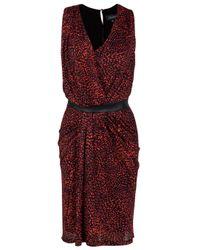 Saloni | Multicolor Sara Leather Waist Dress | Lyst