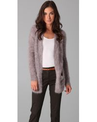 Theory | Purple Scotia Angora-blend Cardigan | Lyst