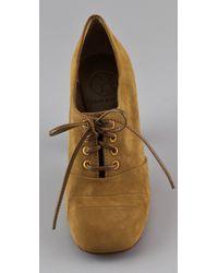 Tory Burch - Yellow Jade High Heel Oxfords - Lyst