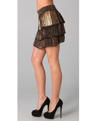 Alice + Olivia - Black Petra Ruffle Skirt - Lyst