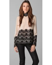By Malene Birger | Multicolor Flori Blouse with Lace Trim | Lyst