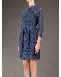Carven Blue Lace Dress