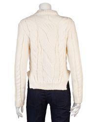 Carven Natural Cable Knit Sweater
