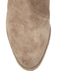 Chloé | Gray Suede Wedge Ankle Boots | Lyst
