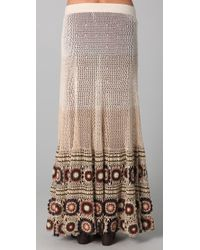 Free People - Brown Carnival Crochet Maxi - Lyst