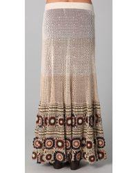 Free People | Brown Carnival Crochet Maxi | Lyst