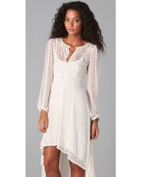 Free People - White The Eyelet Enchantment Dress - Lyst