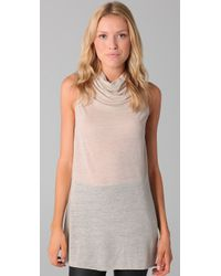 Helmut Lang | Natural Open V Back Sleeveless Sweater | Lyst