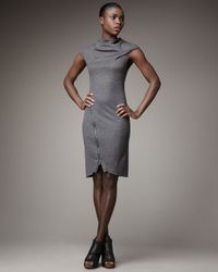 Helmut Lang | Gray Sonar Zipper Dress | Lyst