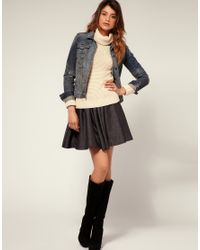 Miss Sixty | Gray Metallic Flippy Skirt | Lyst