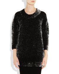 Miu Miu - Black Sequined Wool Sweater - Lyst