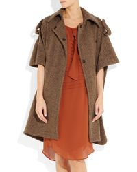 Miu Miu Brown Woolblend Tweed Cape