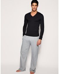 Paul Smith - Black Jeans Long Sleeve V Neck Top for Men - Lyst