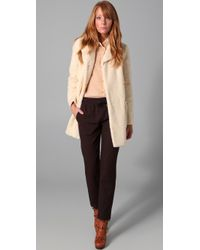 See By Chloé | Natural Sherpa Coat | Lyst