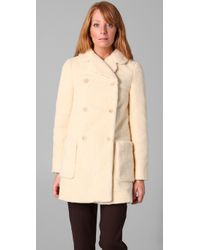 See By Chloé - Natural Sherpa Coat - Lyst