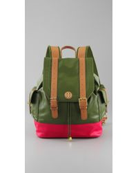 Tory Burch | Green Pierson Canvas Backpack | Lyst