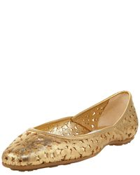 Jimmy Choo | Brown Star-cutout Napa Flat | Lyst