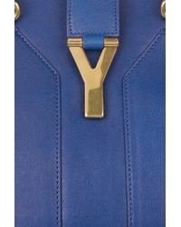 Saint Laurent | Blue Cabas Chyc Leather Tote | Lyst
