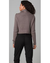 Cut25 by Yigal Azrouël | Natural Cropped Turtleneck Sweater | Lyst