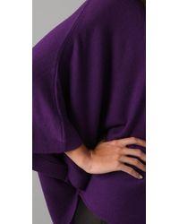 Halston | Purple One Sleeve Top | Lyst