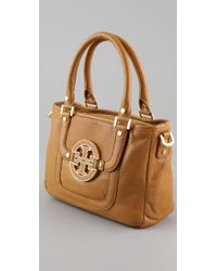 Tory Burch | Natural Amanda Mini Satchel | Lyst