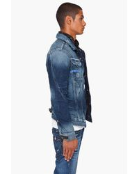 G-Star RAW - Blue Arc Western Jacket for Men - Lyst