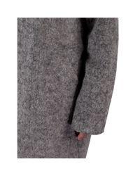 Martin Grant | Gray High Collar Coat with Zip in Grey | Lyst