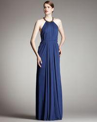 Robert Rodriguez | Blue Jennifer Halter Gown, Ocean | Lyst