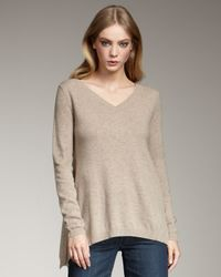VINCE | Natural Handkerchief Knit Sweater, Wheat | Lyst