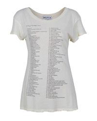 Wildfox | White The 100 Things Hippie Crew Tee | Lyst