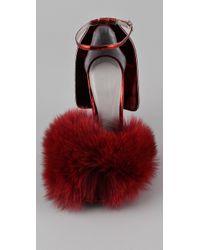 Alexander Wang | Red Simona Fox High Heel Sandals | Lyst