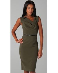 Black Halo - Green Jackie O Belted Dress - Lyst