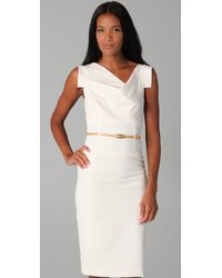 Black Halo | White Jackie O Belted Dress | Lyst