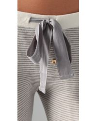 Juicy Couture - Gray Striped Thermal Leggings - Lyst