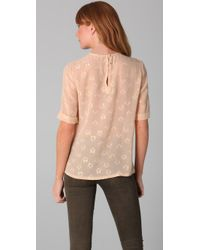 Marc By Marc Jacobs - Multicolor Galaxy Flower Georgette Short-sleeve Top - Lyst