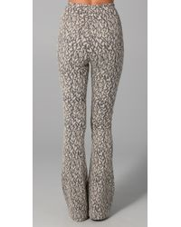 Opening Ceremony - Gray Flare Diamond Jacquard Pants - Lyst