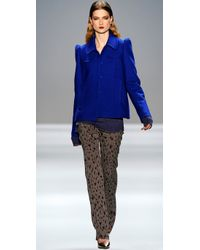 Rebecca Taylor - Brown Leopard Print Flare Pants - Lyst