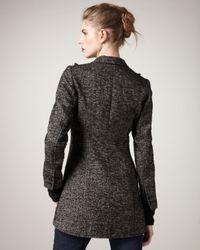 Smythe - Black Knit-sleeve Riding Jacket - Lyst
