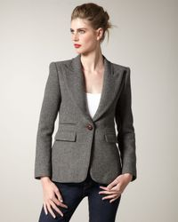 Smythe | Gray Structured Flannel Blazer | Lyst
