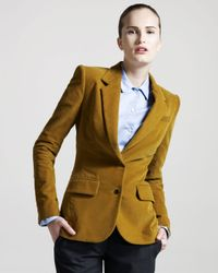 The Row | Yellow Perch-patch Corduroy Jacket | Lyst
