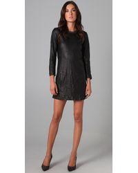 Theory | Black Jeselia Long Sleeve Dress | Lyst