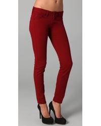 William Rast | Red Kara Skinny Jeans | Lyst