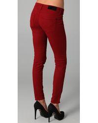 William Rast | Red Kara Skinny Jeans | Lyst